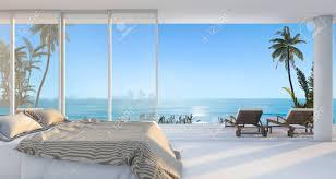 3d Rendering Luxus Villa Schlafzimmer In Der Nähe Von Strand Und