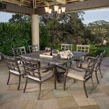 patio dining table and chairs. rustic 9-piece dining set patio table and chairs n