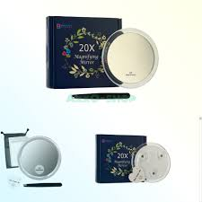 details about 20x magnifying mirror with 3 suction cups use for makeup application tweezi