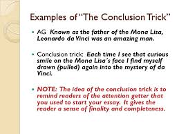 "opinion essays famous person interview feedback examples of ""the  examples of the conclusion trick ag known as the father of the mona lisa leonardo"