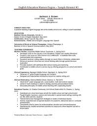 Resume Examples Education Section High School