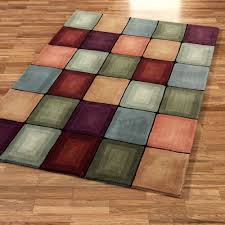 best contemporary area rug colored squares  contemporary area