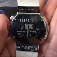 gucci 1142. gucci accessories - nwot white gucci pantcaon watch 1142