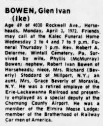 Glen Ivan Bowen obituary - Newspapers.com
