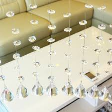 50pcs 14mm crystal glass prisms octagonal beads pendant decoration lamp glass chandelier parts