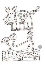 Disegno Da Colorare Gratis Bambini Animali Mamma Felice