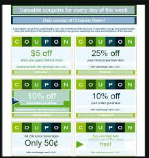 Lunch Coupons Format Coupon Templates Free Template Monster Sample