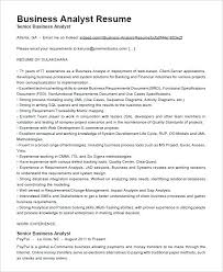 Junior Business Analyst Resume Sample