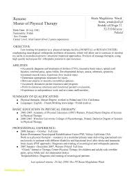 Resume Format For Physiotherapist Job Simple Cover Letter Sample For