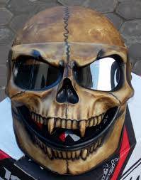 monster skull motorcycle helmet skull visor full face motorcycle