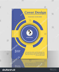 Cover A 4 Circle Blue Yellow Abstract Stock Vector Royalty Free