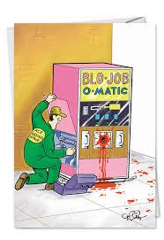 Vending Machine Cartoon Unique Vending Machine Funny Birthday Card