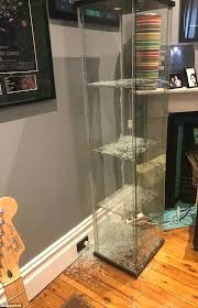from has spoken of the terrifying moment her glass cabinet ikea white kitchen cabinets horror spontaneously glass cabinet