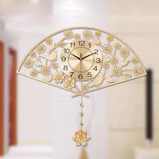 chinese wall decor unique big gold modern brief wall clock home decor traditional