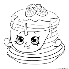 Pancake Coloring Pages Best Of Shopkins Birthday Party Ideas