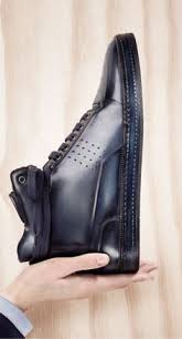 Leather High-Top Sneaker Burgundy | <b>Luxury</b> shoes | Обувь ...