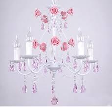 pink chandelier lighting. Korean Five Idyllic Romantic Bedroom Lamp Living Room Light Pink Crystal Lamps Wrought Iron Chandelier Lighting