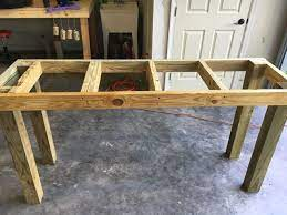 plant potting table base assembly