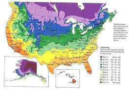 Us Growing Zone Chart Florida Growing Zones The Hardiness Zones Of The Us And