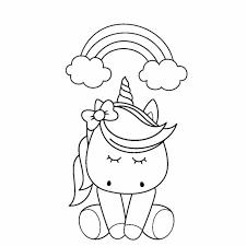 Auf dieser seite findet ihr die verschiedensten ausmalbilder zum thema pferde und ponys. Ausmalbilder Kawaii Tiere Einhorn Coloring And Drawing