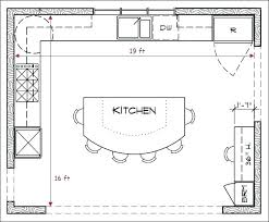 kitchen plans floor with islands large