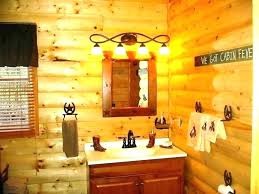 log cabin bathroom accessories decor design photos lodge deer black bear sets rustic bath set incredible cabin bathroom decor log