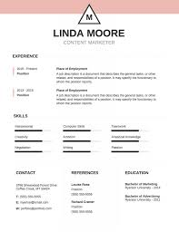 Resume Template With Photo Word Templates Images Free Insert