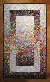 Art Quilt, Garden Window Watercolor Colorwash Fabric Wall Hanging ... & Art Quilt, Garden Window Watercolor Colorwash Fabric Wall Hanging Handmade: Adamdwight.com