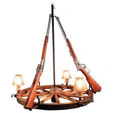 3 light wagon wheel chandelier