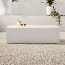 Cover or store indoors during inclement weather and when not in use. Ivory Concrete Coffee Table Reviews Cb2