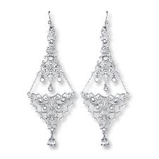 chandelier earrings crystal accents sterling silver
