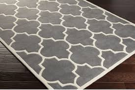 gray white area rug square grey white hand woven parallelogram