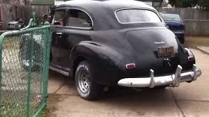 Mark backing out his Grandpa's '48 Chevy Fleetmaster - YouTube