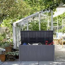 garden storage box 430 litre plastic