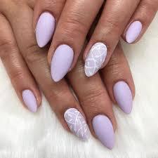 leaf leafnails purple purplenails matte mattenails lilacnails lavendernails almondnails nails nailart nailtech nailswag nailsforever gel