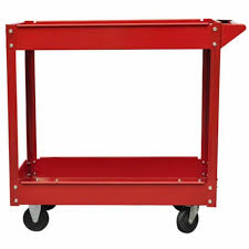 3 tier shelf work tool trolley storage heavy duty garage diy wheel cart tray