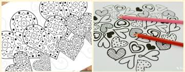 Small Picture Free Printable Valentines Day Colouring Pages for Adults and Kids