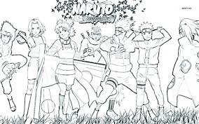 Naruto Characters Coloring Pages Of Best Images On Books Com An Free