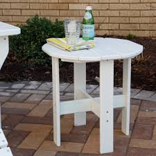 POLYWOOD Vineyard Recycled Plastic 18 in. Round Side Table | Hayneedle