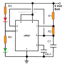 best of timer application circuits explained simple ic 555 wig wag flasher circuit diagram image