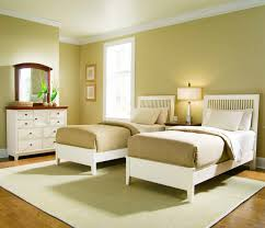 Simple Bedroom Paint Colors Simple Twin Bedroom Set Idea For Girls With Golden Brown Wall