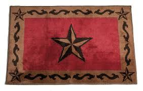 texas lone star red rug 2