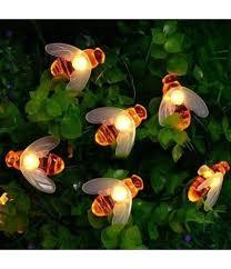 bee string lights 20 led solar powered bright flash fairy light garden party lighting diy