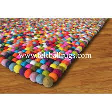 colorful rugs. Medium Size Rectangle Square Colorful Rainbow Felt Ball Rug Rugs For Nursery Loadi Large