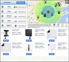 or you can use winegard s app to determine where to place your antenna it is now available to for free in the apple app andandroid google