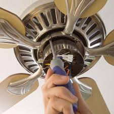 attaching ceiling fan blades