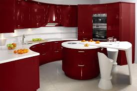 Red And Black Kitchen Fascinating Red Black White Kitchen Decor With Creative Wall Art