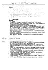 Machinist Resume CNC Lathe Machinist Resume Samples Velvet Jobs 19