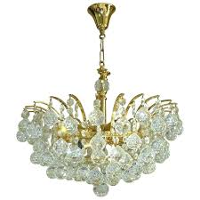 chandeliers crystal ball chandelier vintage attributed to for at lighting fixture
