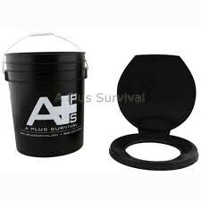 5 gallon portable bucket toilet with